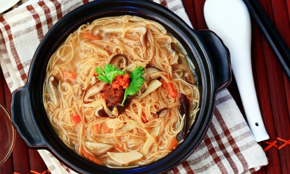 香菇麵線糊,台灣傳統好滋味,素食者即食口袋美食 - 1
