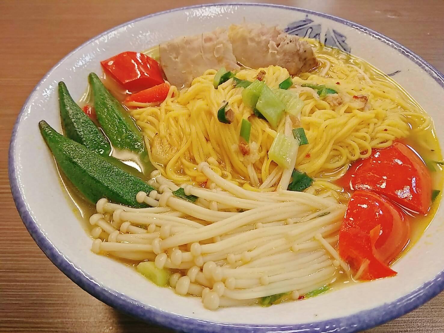 薑黃麵線料理食譜- 野菜園薑黃麵線 - 1
