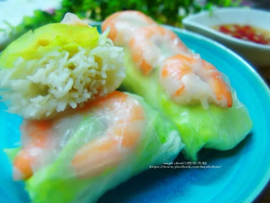 有機長壽麵線料理食譜-越南春捲 - 1