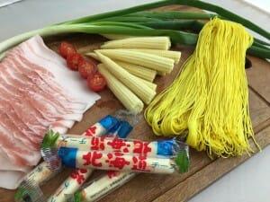 薑黃麵線料理食譜-起司豬薑黃麵線卷 - 2