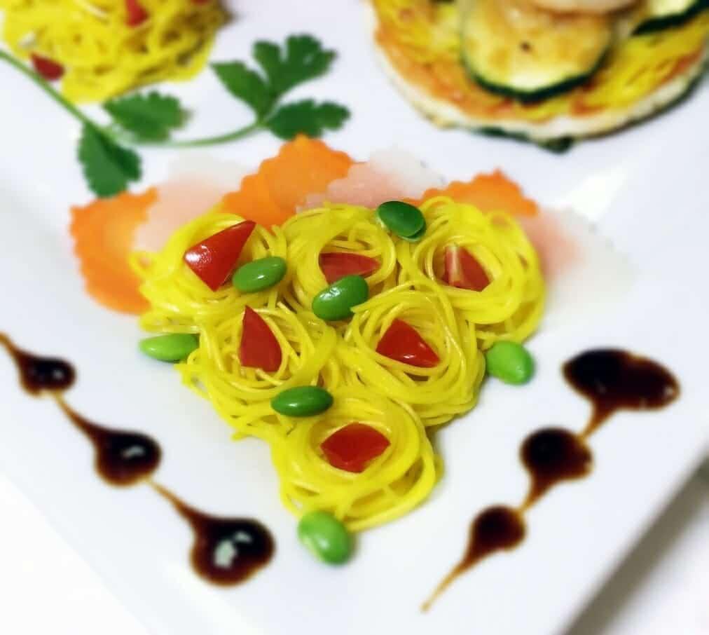 薑黃麵線料理食譜-冷薑黃麵線 - 1