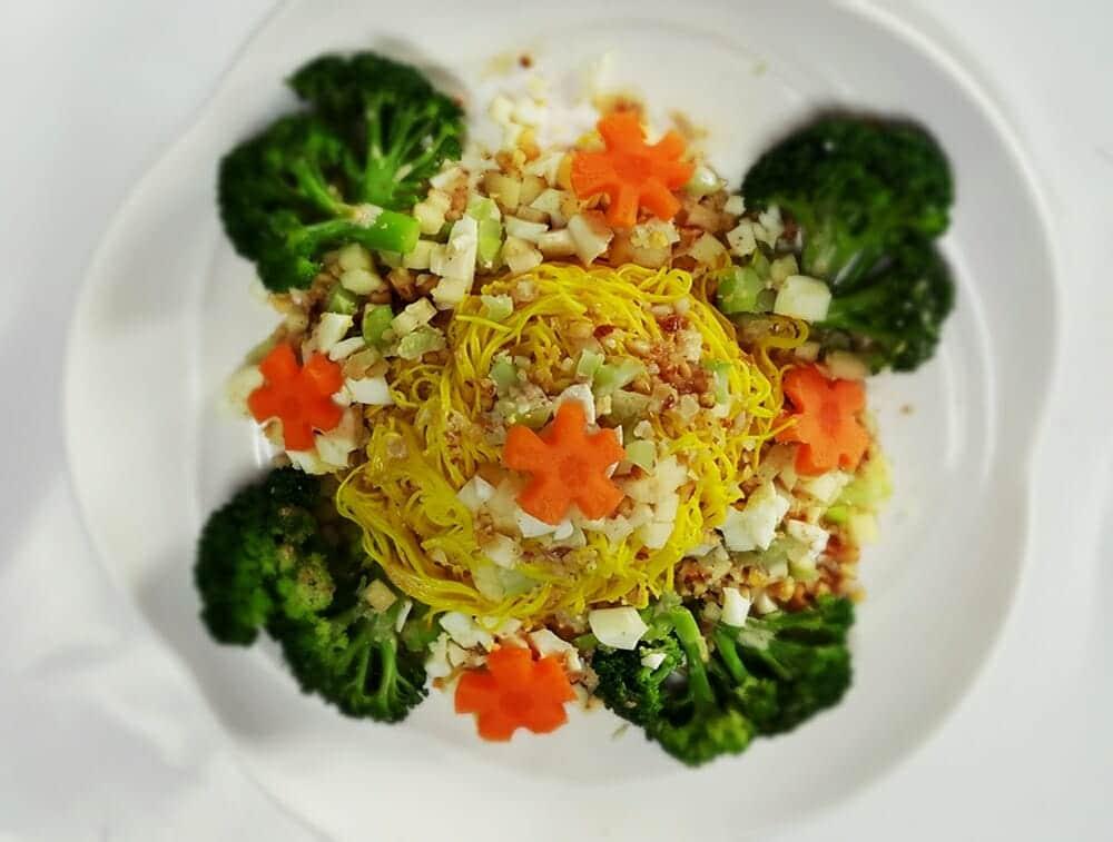 薑黃麵線料理食譜-堅果蔬食薑黃麵線 - 1