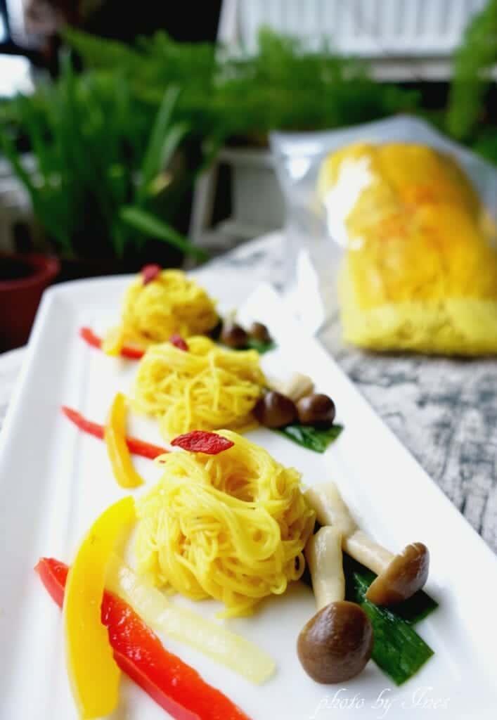 薑黃麵線料理食譜-一鍋到底「地中海養生菇薑黃麵線」 - 1