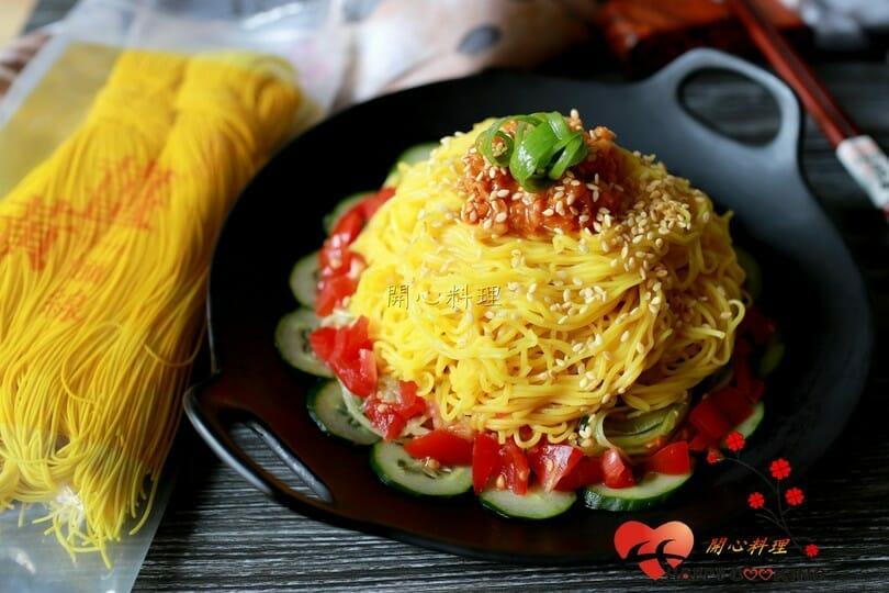 薑黃麵線料理食譜-韓式肉醬薑黃麵線 - 1