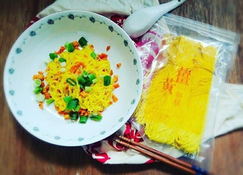 薑黃麵線料理食譜-地瓜麵線 - 1