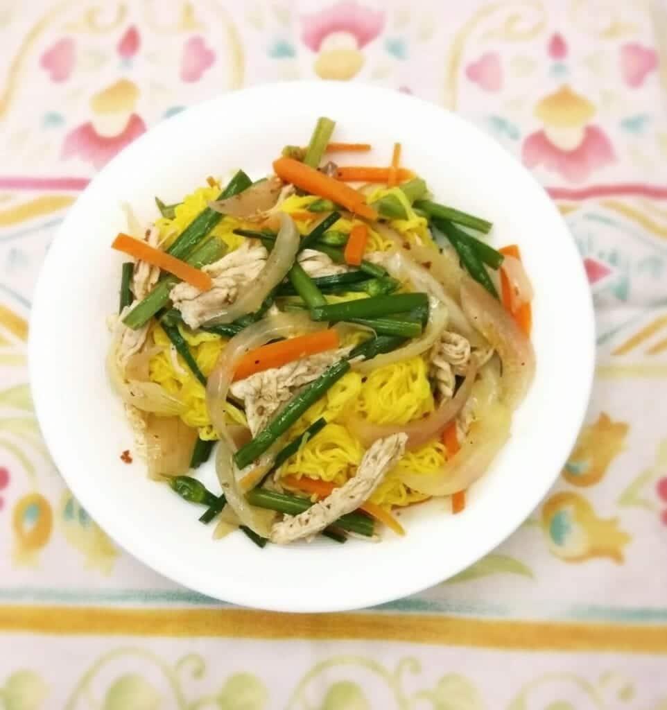 薑黃麵線料理食譜-泰式雞絲薑黃麵線 - 1