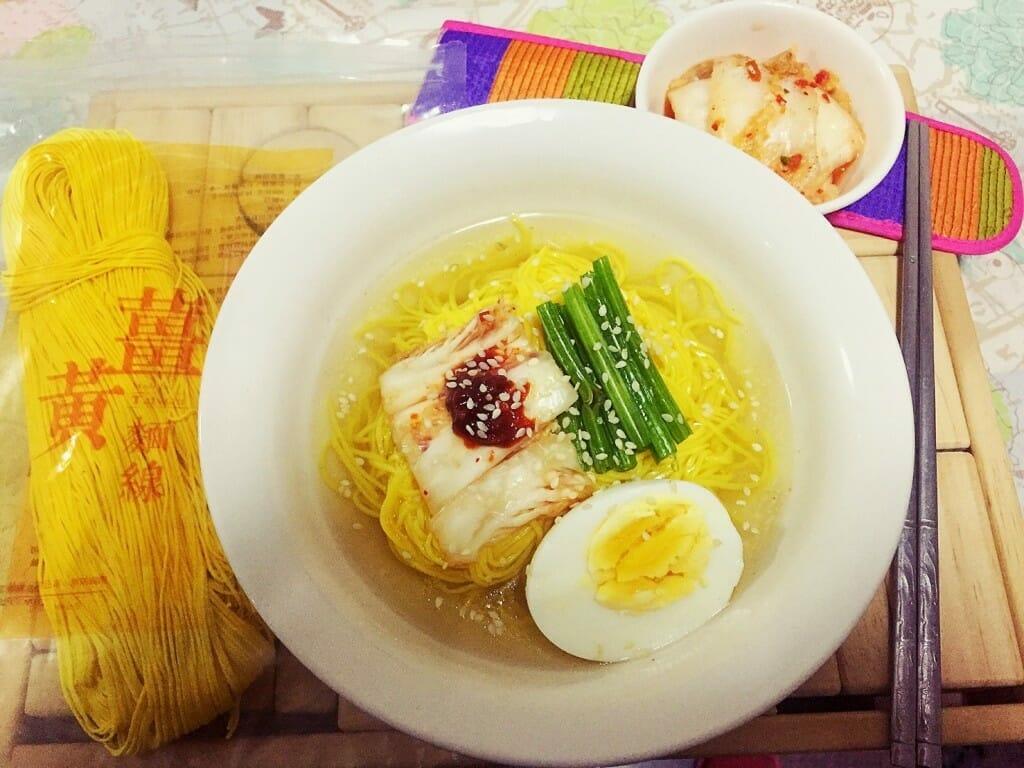 薑黃麵線料理食譜-韓國泡菜冷麵 - 1