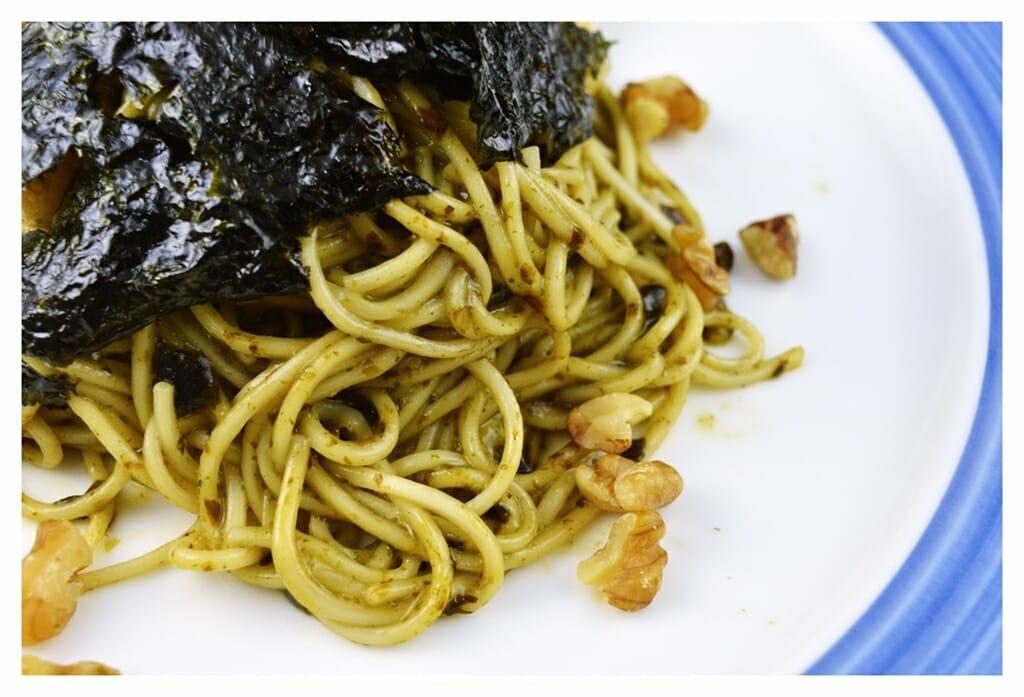 百福細麵料理食譜-蜂蜜海苔青醬細麵 - 1