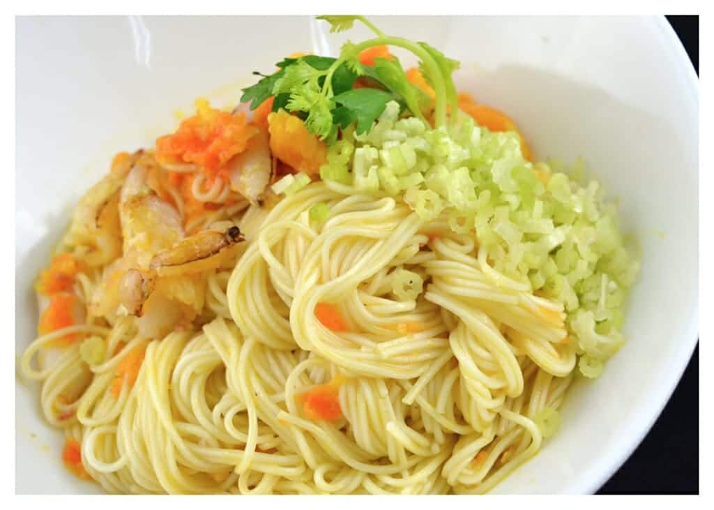 百福素麵料理食譜-蟹黃乾拌素麵 - 1