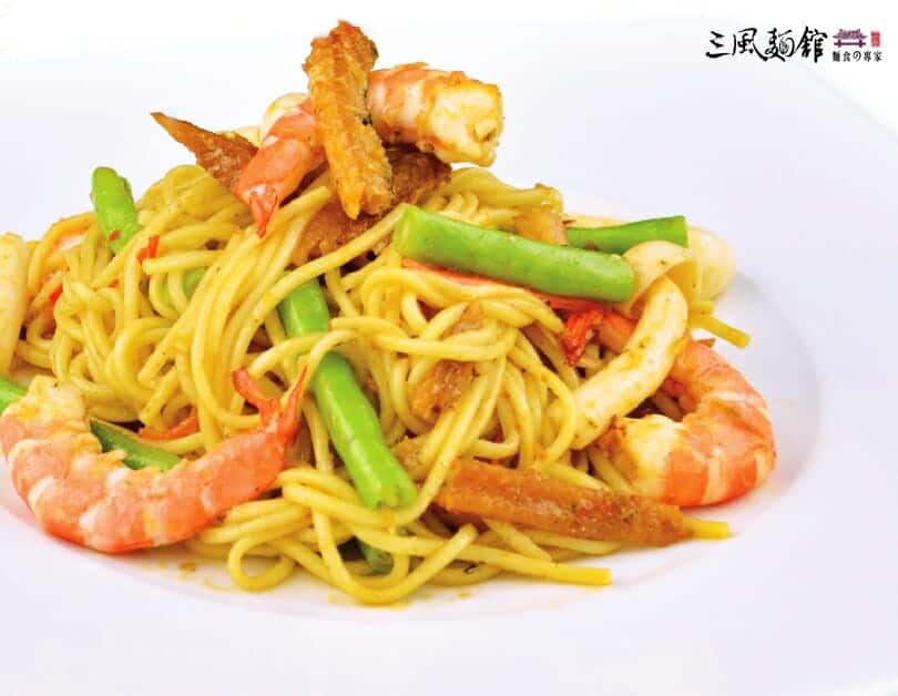 美鰻好蝦麵-薑黃油麵食譜