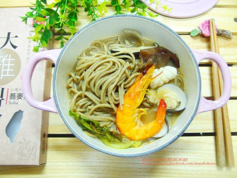 三風麵館-部落客Mayli Chen的簡單煮藝海鮮蕎麥麵