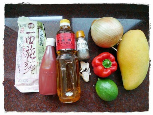 【刮盤料理】超開胃芒果莎莎醬涼麵!簡單自製芒果莎莎醬涼麵  (西施麵食譜) - 2